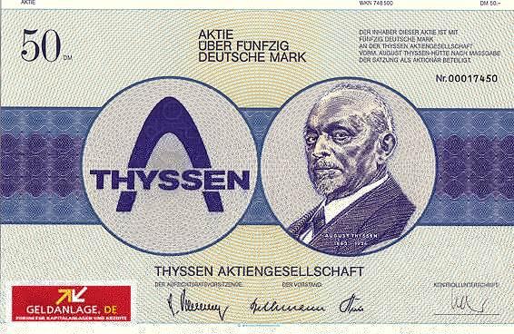 Aktie der Thyssen AG