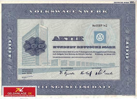 Aktie der Volkswagen AG