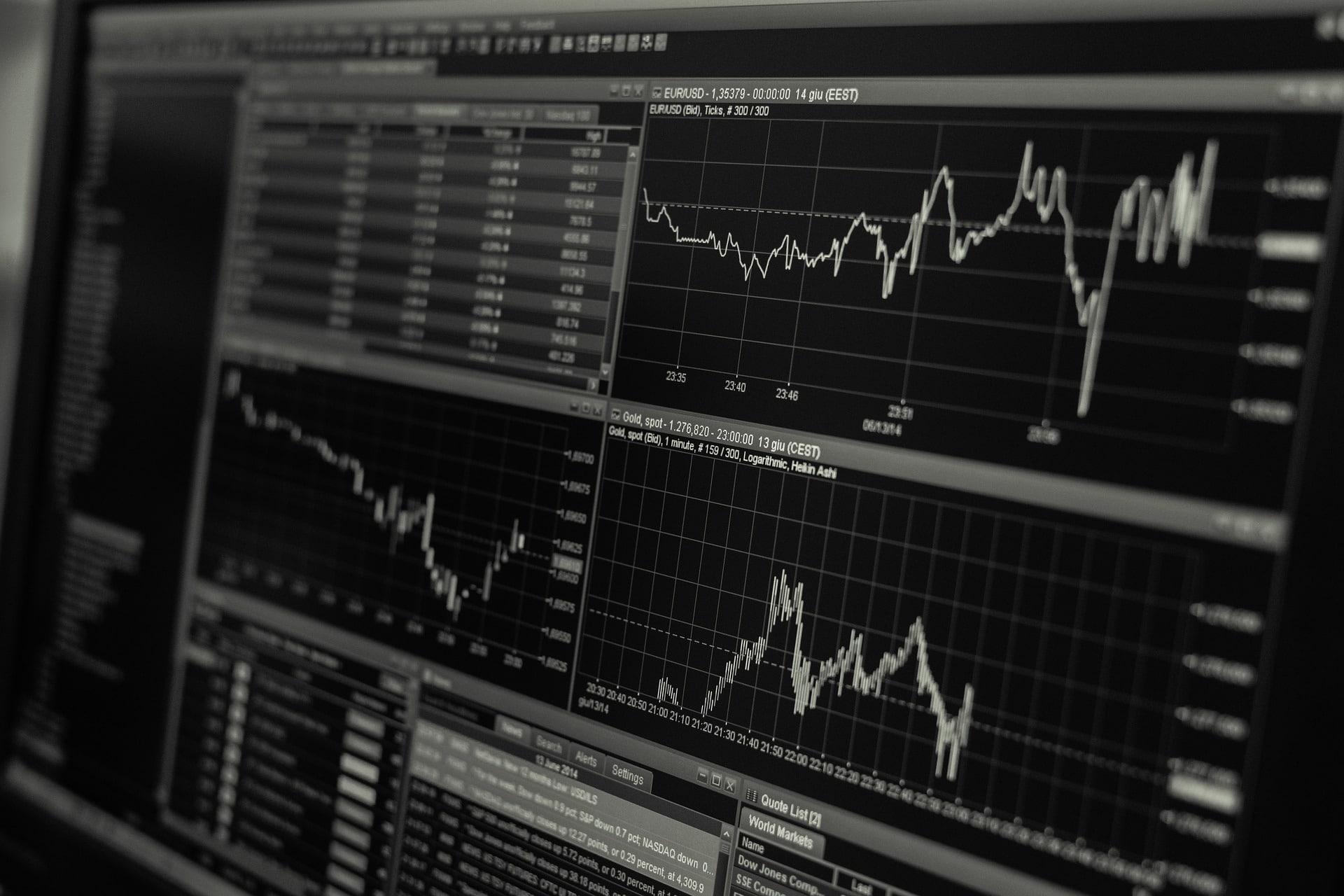 Ein Monitor an der Börse