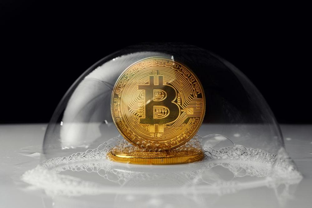 Bitcoin in einer Blase